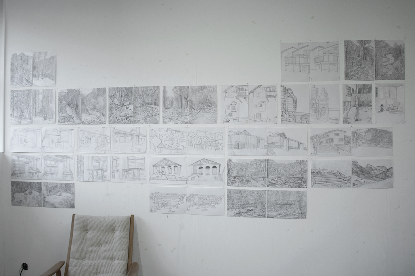 Studio-view with Drawings